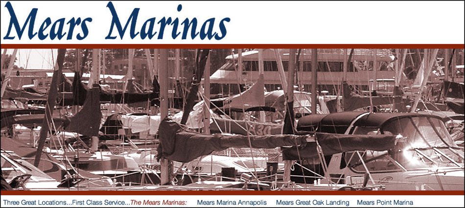 Screenshot of the Mears Marinas