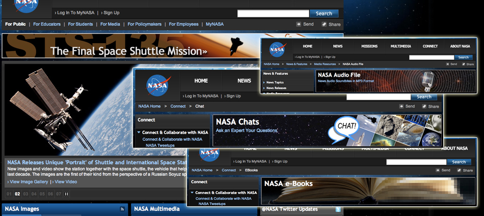 Screenshots of NASA Work