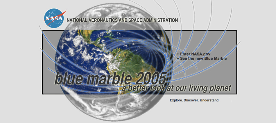 Screenshot of Blue Marble 2005