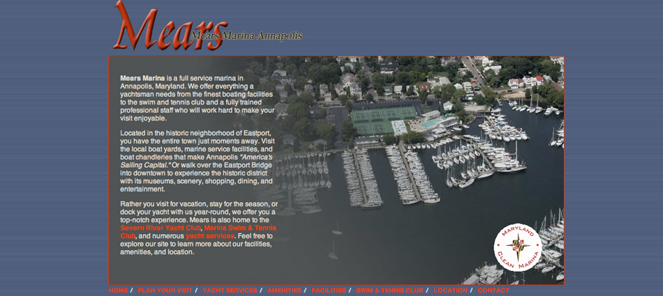 Screenshot of Mears Marina Annapolis