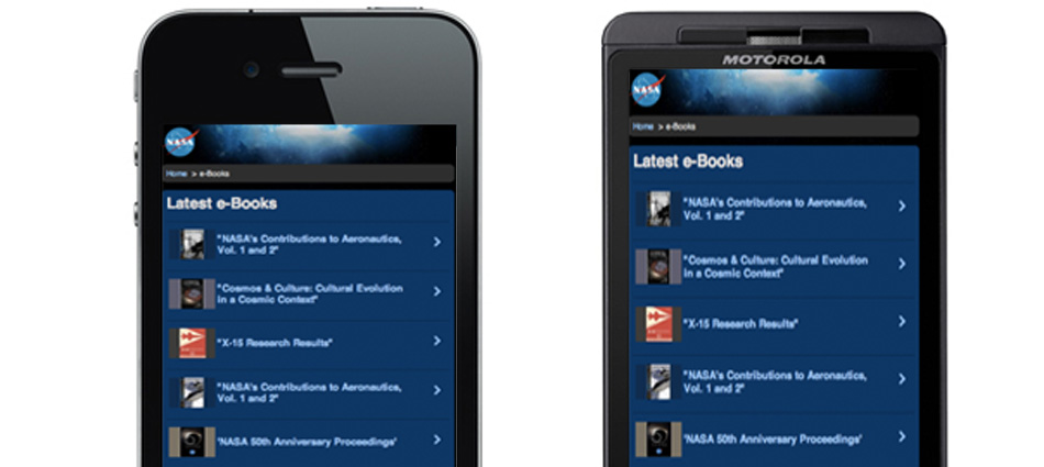 NASA e-Book Library screenshot